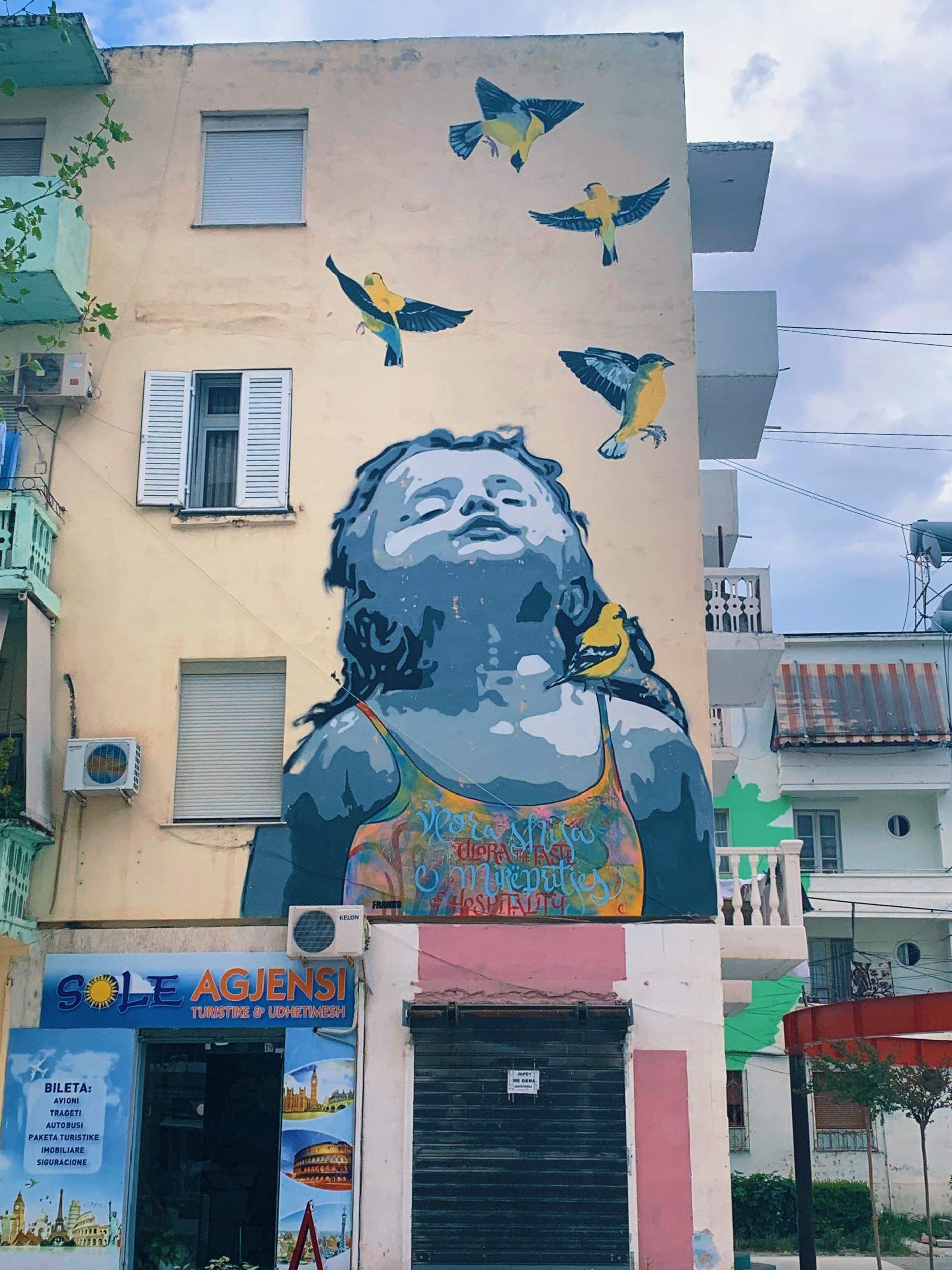 Vlore street art Albania travel guide
