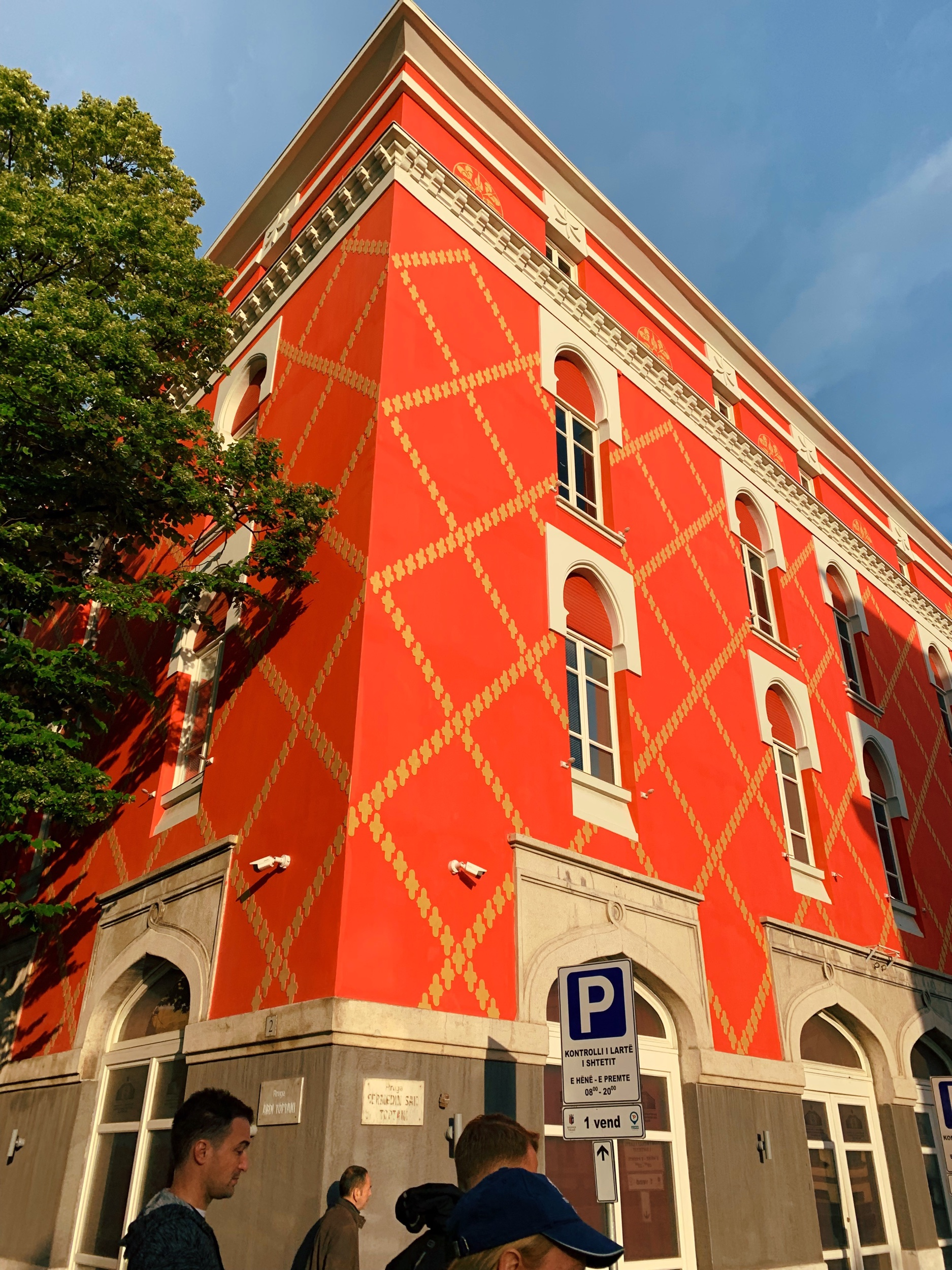 Tirana's drab Communist buildings now pop with color.