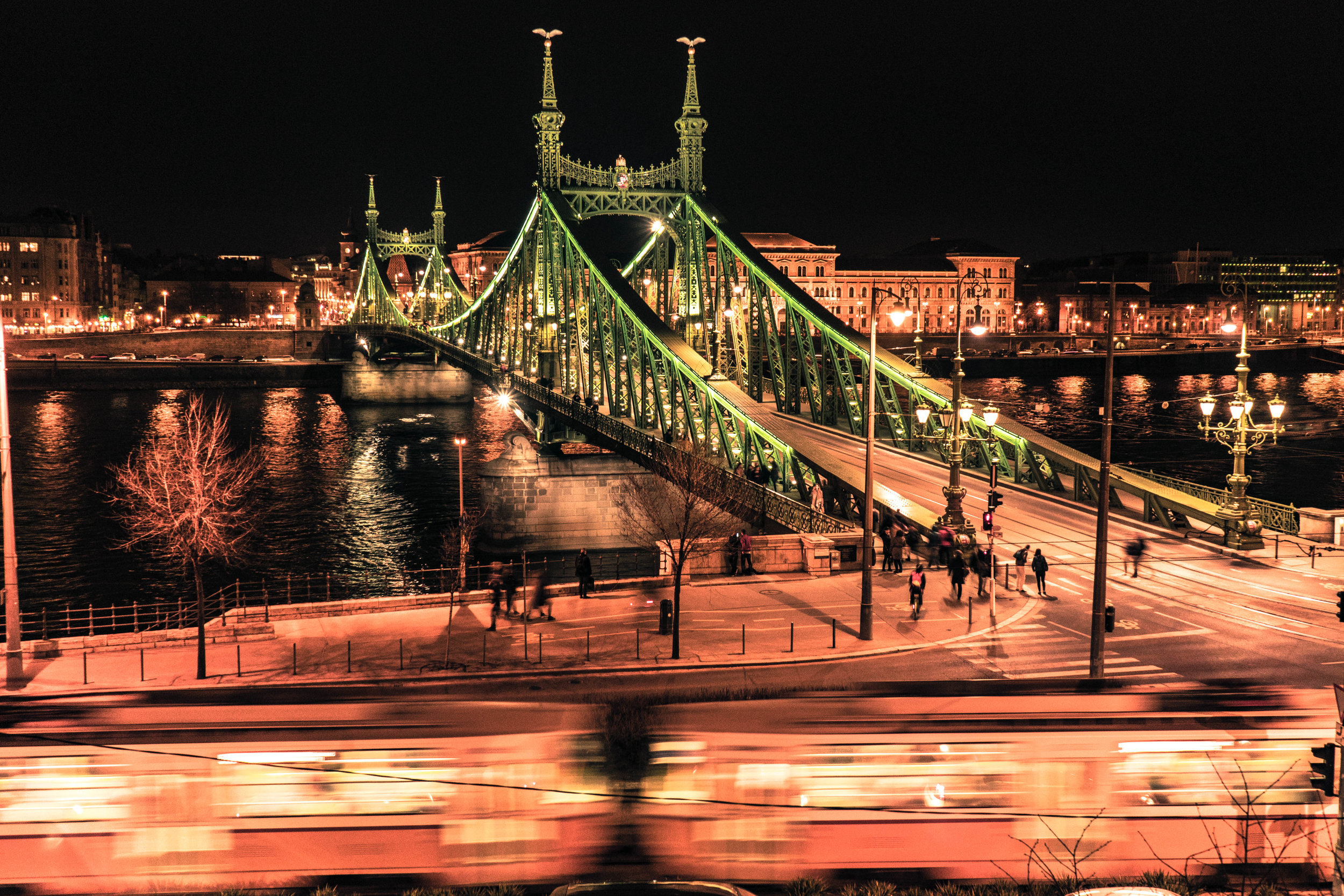 Budapest's Liberty Bridge.