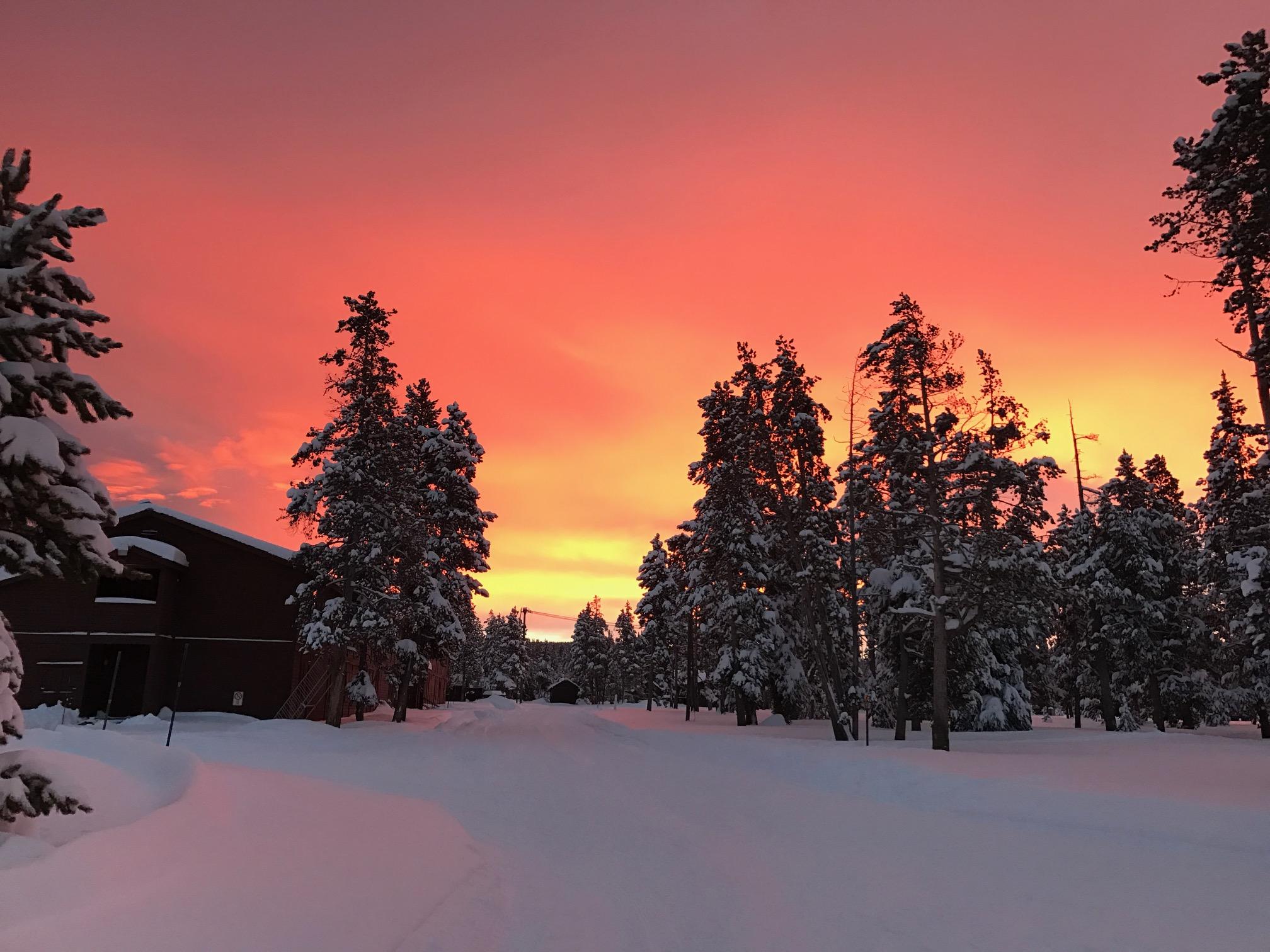 Sunset at Yellowstone.