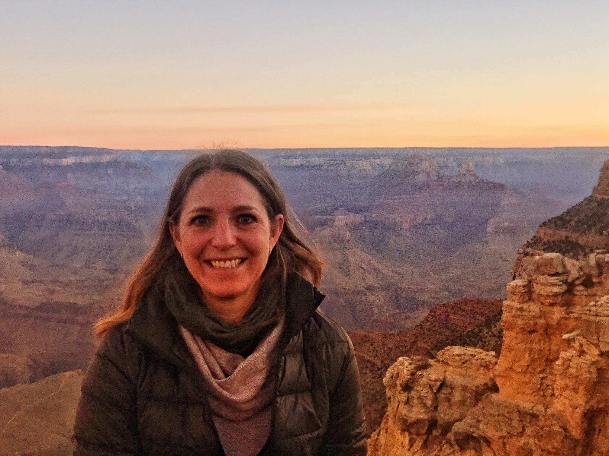 Danielle at the Grand Canyon, South Rim. Arizona.