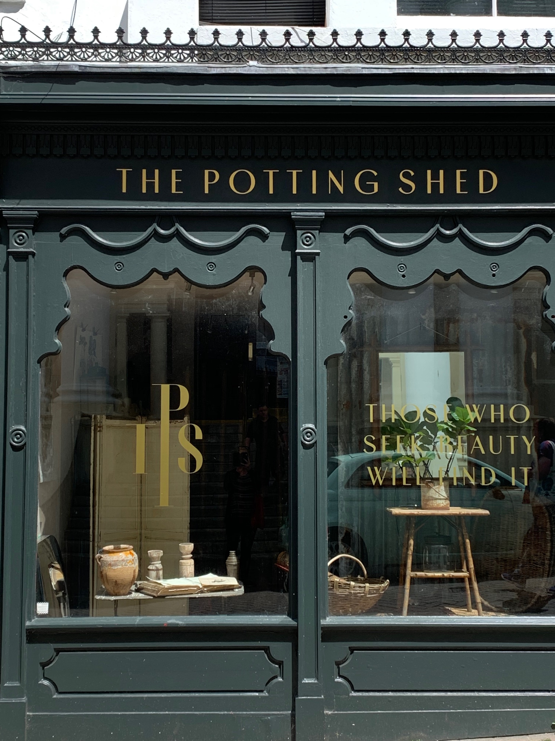 The Potting Shed . It looks like a garden shop, right? Wrong! It's a secret little cocktail club.