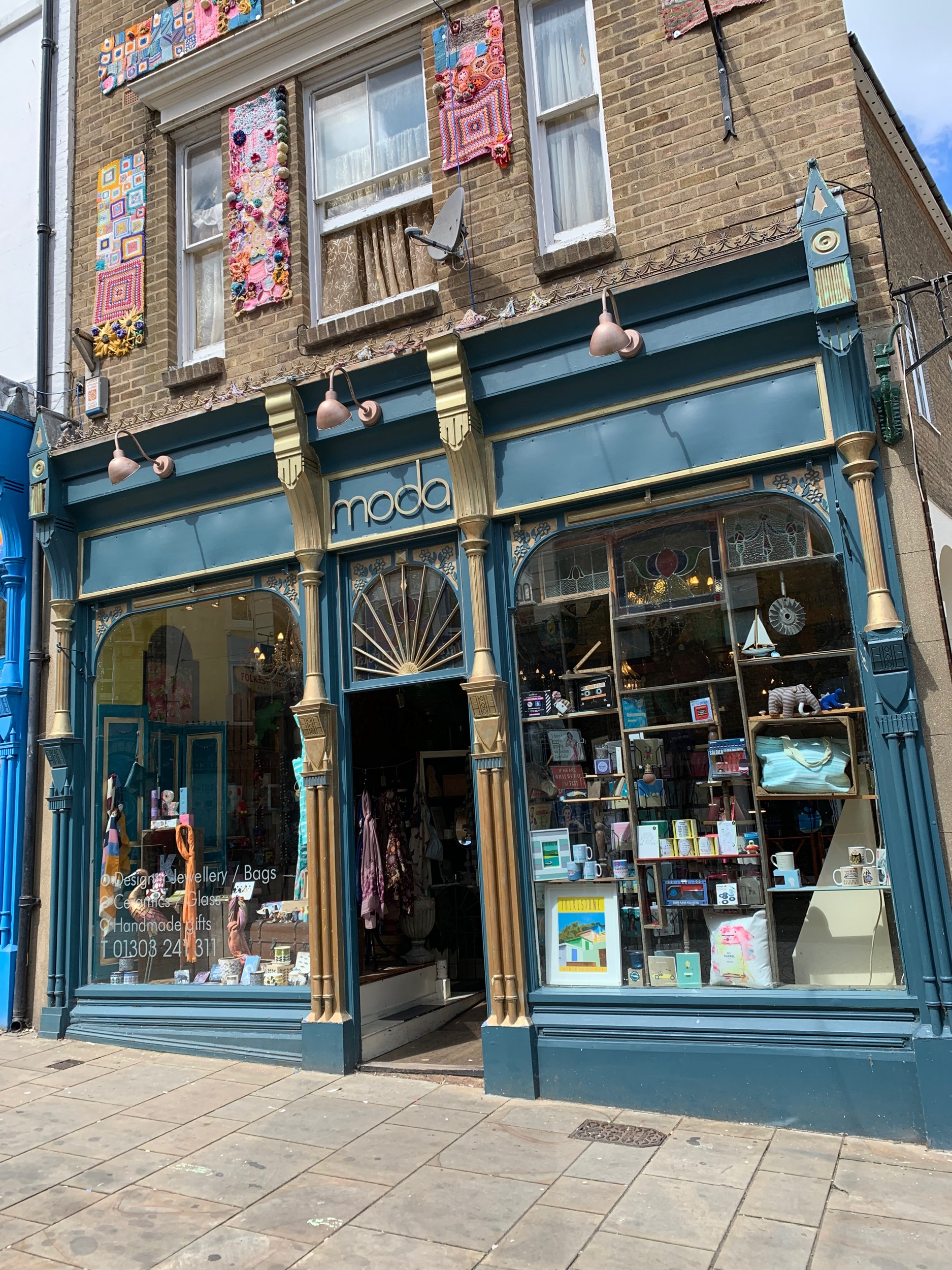 Moda . And emporium of eclectic things and Folkestone souvenirs.