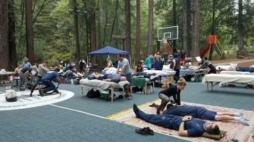 Integrative Healing Clinic to support first responders at Alliance Redwoods in Camp Meeker. Photo:Misha Miller