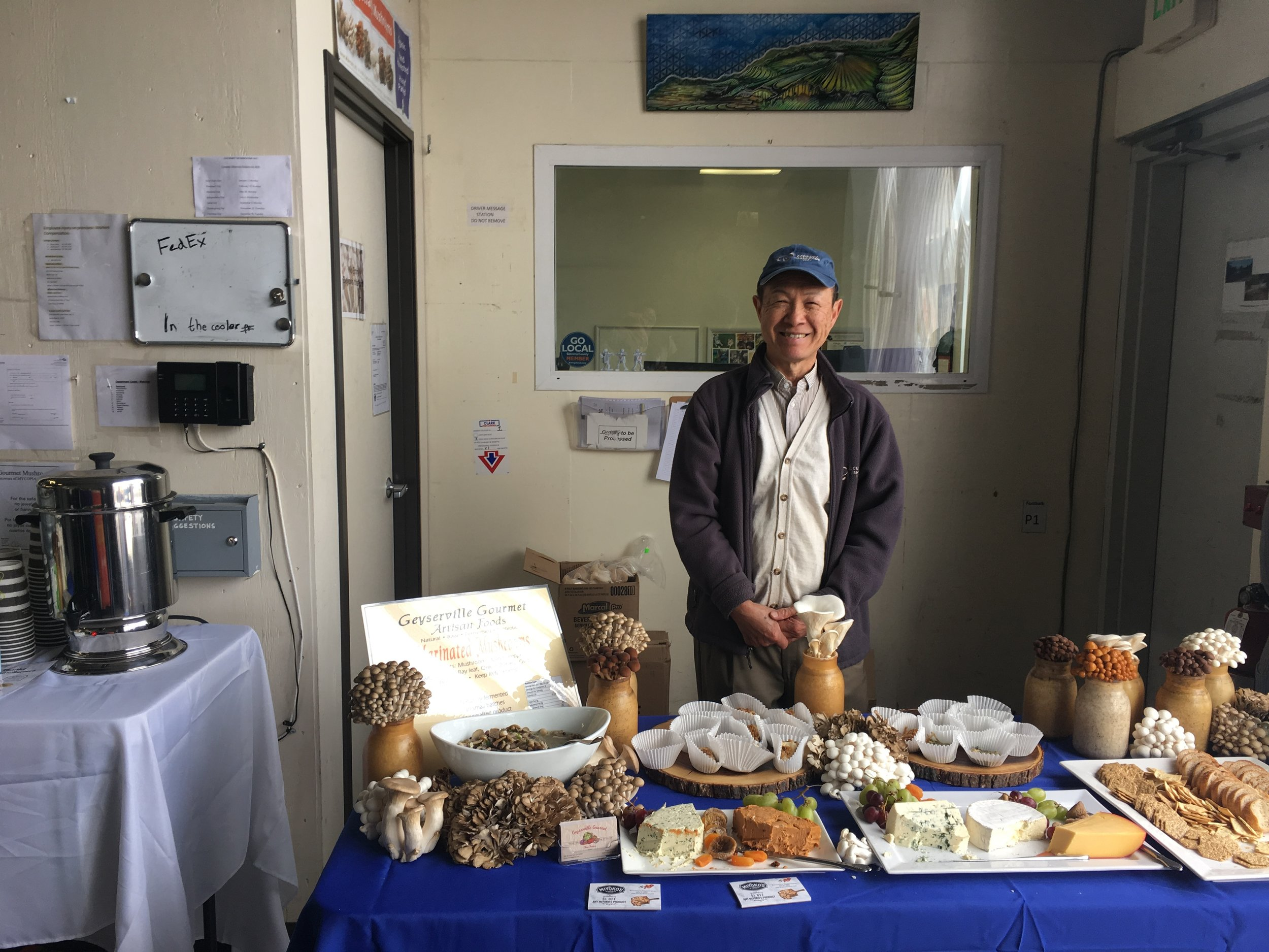 Richard, who has been with the farm for its entire history, presides over a gourmet spread