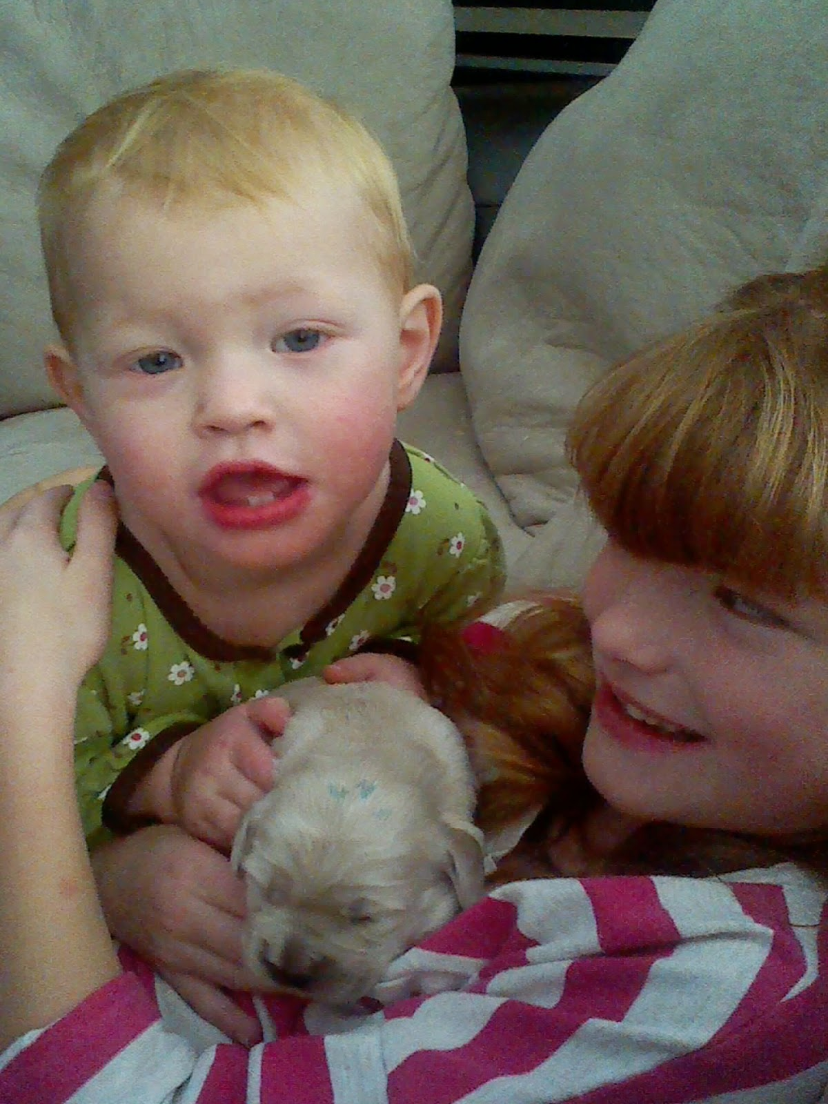 Eden and Anna with Maverick -