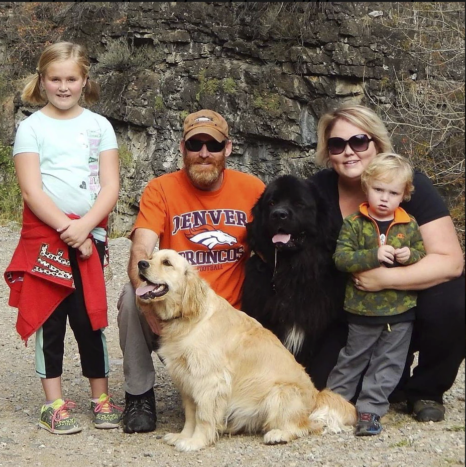 Ozzy with his family in Ogdan, Utah - Photo courtesy of Shannon.