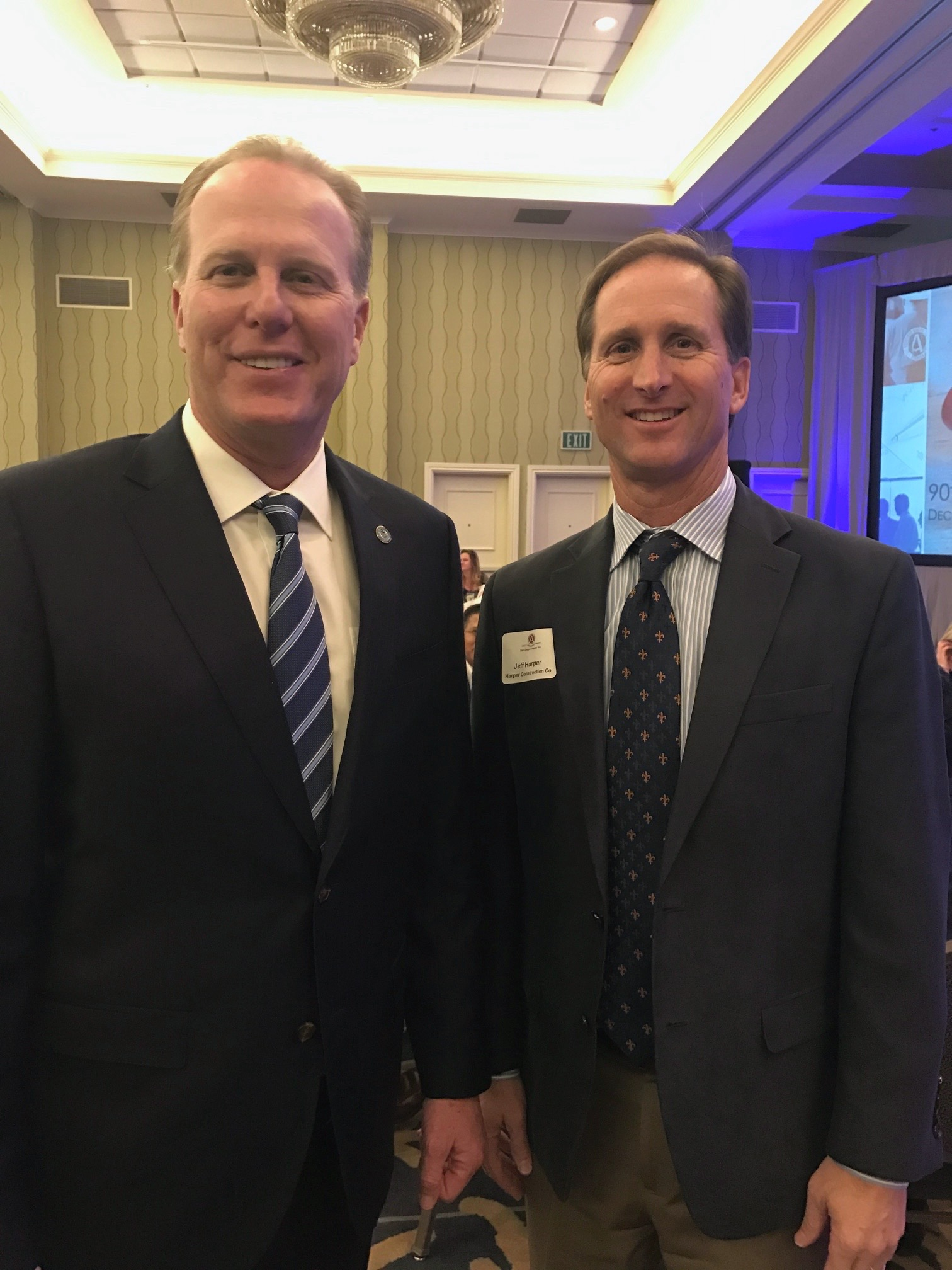 Jeff Harper with San Diego Mayor, Kevin Faulconer