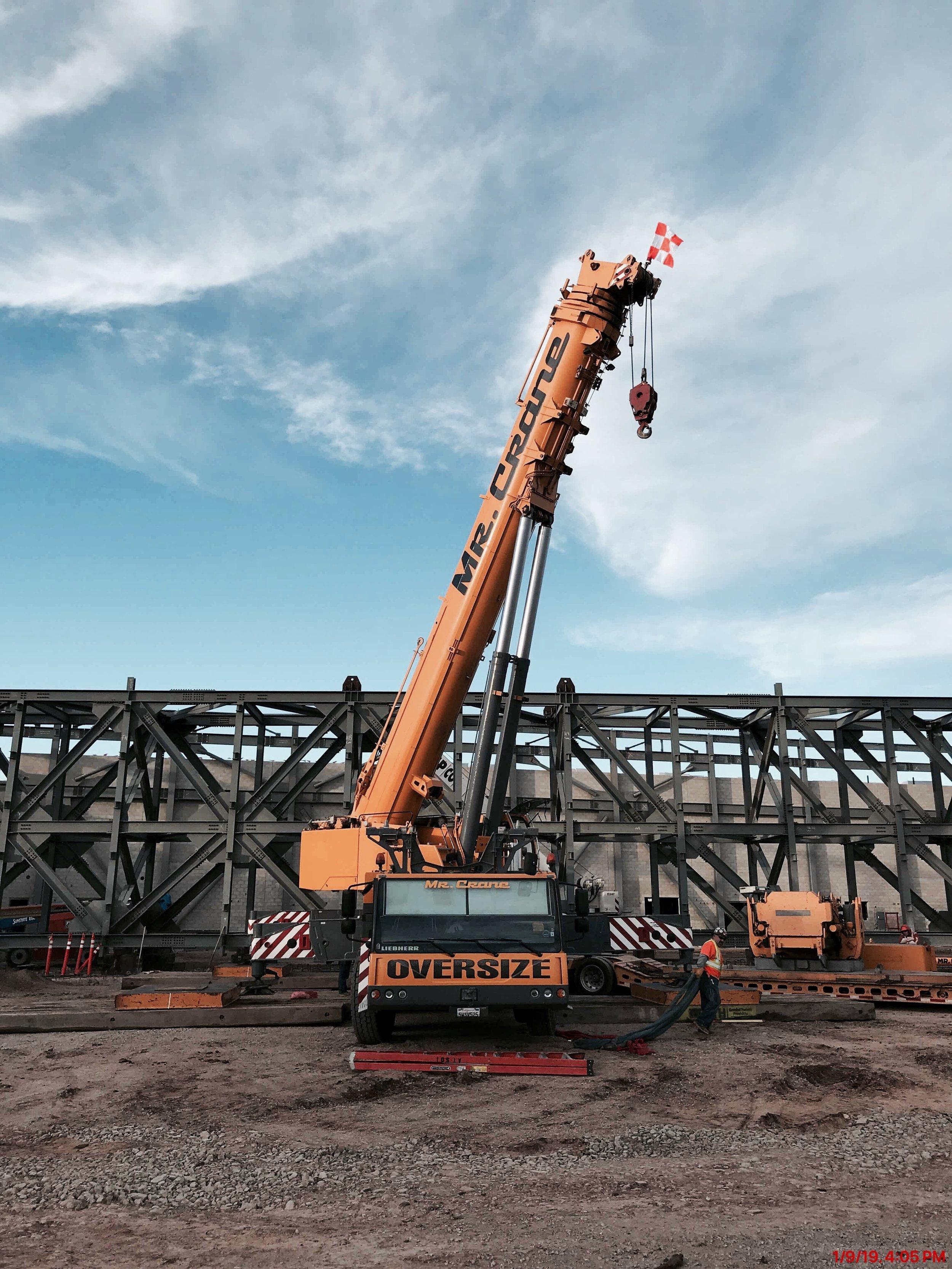 Box Truss Lift Complete at MCAS Miramar — Harper Construction