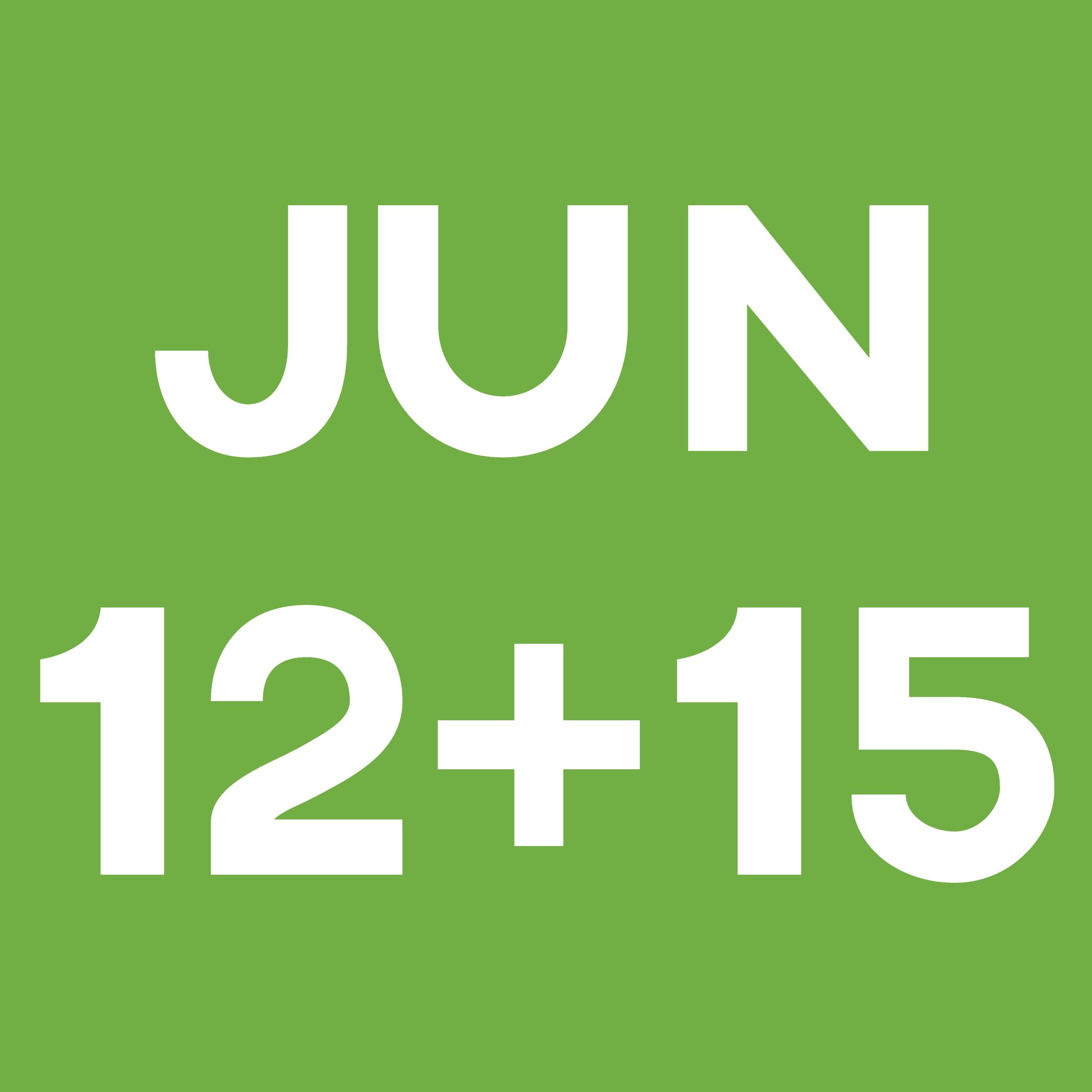 June 12 + 15 Green Data Block