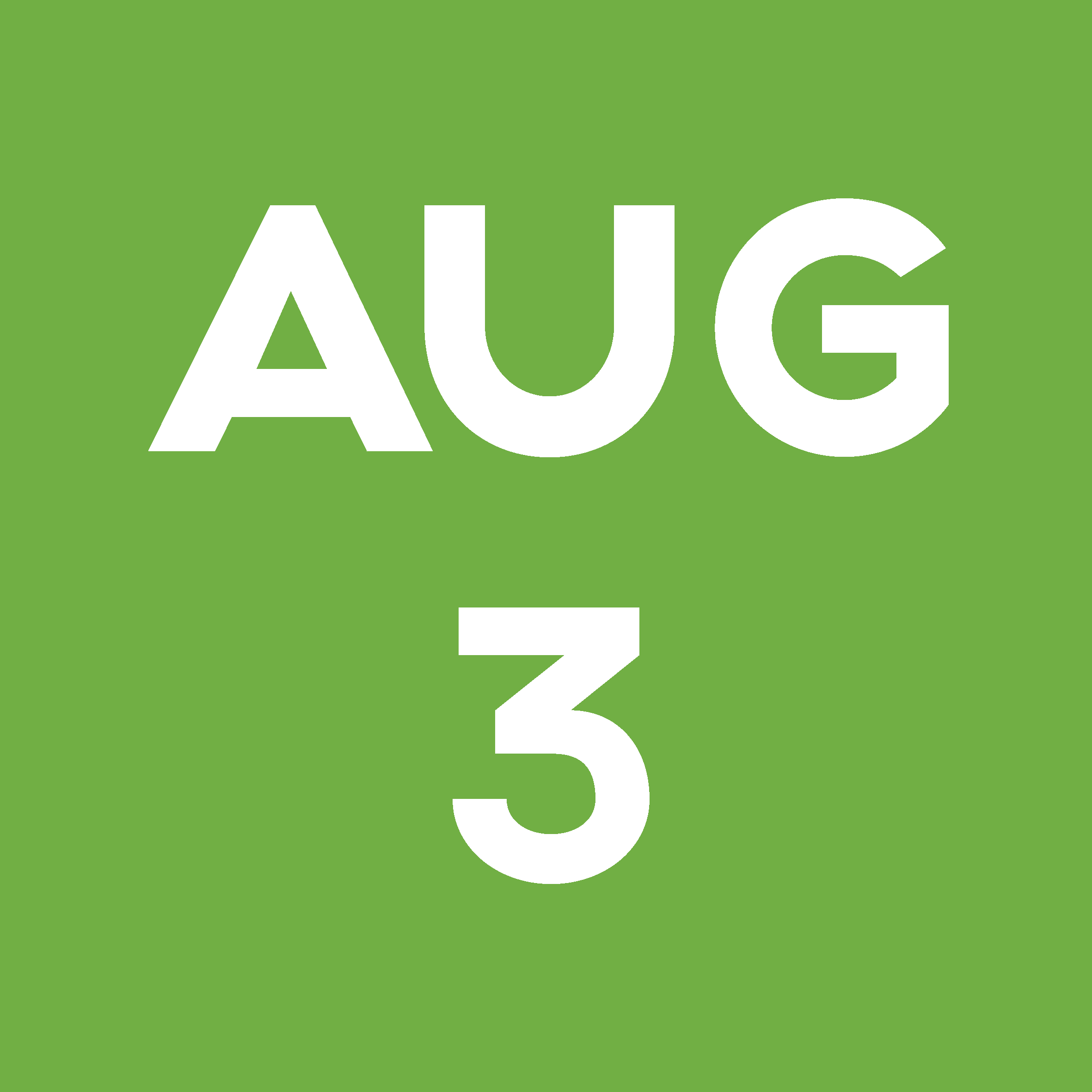 Date Block August 3rd
