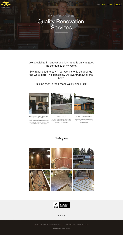 Website - D. Wiens Contracting