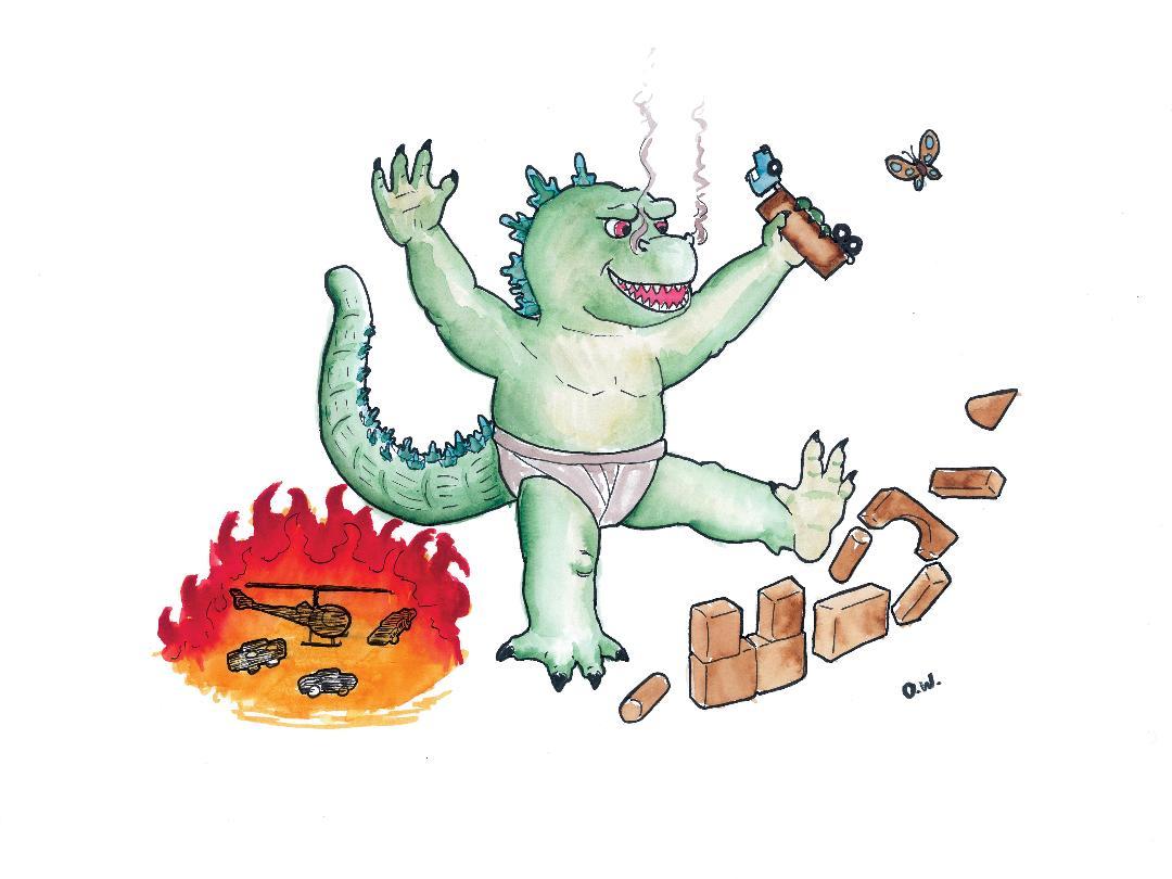 Li'l Baby Godzilla