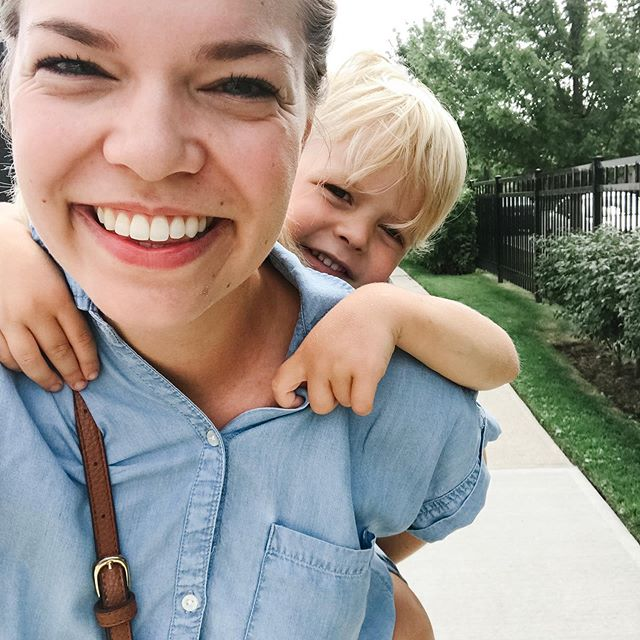 We walked to get ice cream this morning but he was too tired to walk back. My arms are sore and my blouse is now very wrinkled but I could never regret carrying him home.