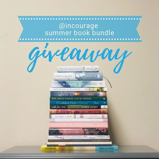 It's a late summer book bundle GIVEAWAY of books by @incourage writers – and one person is going to win this whole stack, worth appx. $300! AMAZING! Here's how to enter:⁣ ⁣ 1. Like this post.⁣ ⁣ 2. Follow each of the authors' accounts (we've listed the title of their book(s) as well so you know what titles are included in this mega-stack!):⁣ ⁣ @incourage (A Moment to Breathe, Summer (in) the Psalms 40-Day Journal)⁣ ⁣ @holleygerth (Hope Your Heart Needs)⁣ ⁣ @thebonniegray (Whispers of Rest)⁣ ⁣ @kristenstrong (Back Roads to Belonging / Girl Meets Change)⁣ ⁣ @michelecushatt (I Am)⁣ ⁣ @reneeswope (A Confident Heart Devotional)⁣ ⁣ @dawncamp (With Love, Mom)⁣ ⁣ @marycarver (Choose Joy)⁣ ⁣ @jenschmidt_beautyandbedlam (Just Open the Door)⁣ ⁣ @kaitlyn_bouch (Even If Not)⁣ ⁣ @alizalatta (Come Find Me, Sage Parker)⁣ ⁣ @jenniferdukeslee (It's All Under Control)⁣ ⁣ @annaerendell (Pumpkin Spice for Your Soul / A Moment of Christmas)⁣ ⁣ @michelleamireyes (The Art of Taleh: The Gospel of John Revisited)⁣ ⁣ @lucretiaberry (What LIES Between Us Journal and Guide)⁣ ⁣ @dorinagilmore (Glory Chasers)⁣ ⁣ 3. Comment on this post with the book you would most like to read (or your favorite from this stack.) For an extra entry, tag a friend (in a separate comment) whom you think would also like to win.⁣ ⁣ Good luck, and happy reading!⁣ --⁣ *Giveaway ends on 8/22/19 at 11:59pm Central time. Winner will be announced on this post.⁣ *Contest is in no way affiliated with or sponsored by Instagram or Facebook.⁣ *Residents outside the U.S. are able to enter but may need to pay shipping if selected as winner.