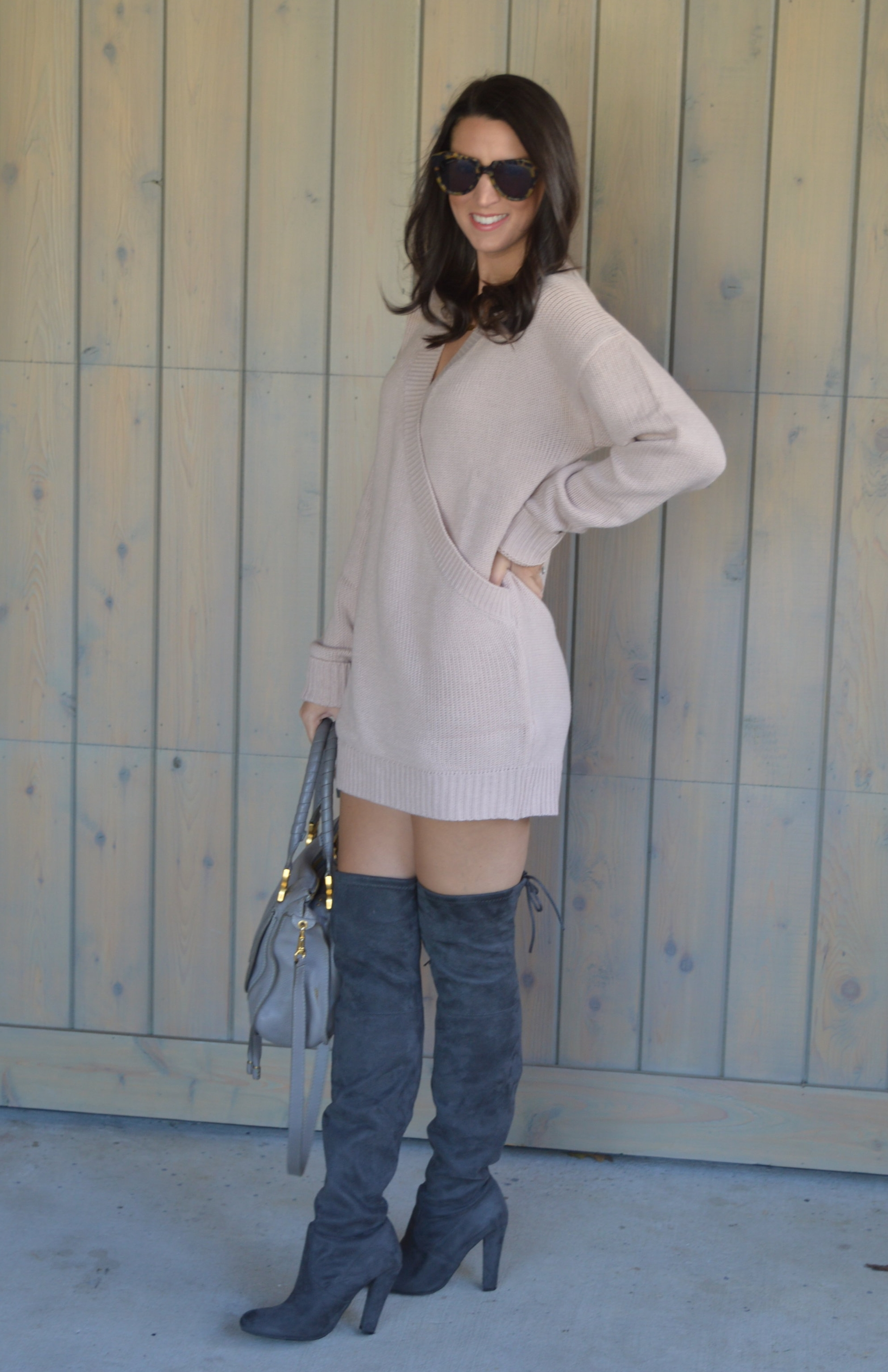 Winter Romance Oversized Sweater Dress