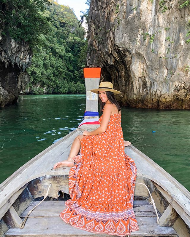 Went on a dreamy long tailed boat this morning to see the four islands 🏝 my maxi is currently out of stock from @forever21 @liketoknow.it http://liketk.it/2xpOG #liketkit #LTKstyletip  #LTKunder50 #LTKunder100 - - - #singapore #thialand #phuket #krabi #travelblog #travelblogger #travelphotography #beautifuldestinations #beachvibes #goodvibes #instatravel #letsgosomewhere #visitthialand #waterlust #lookoftheday #maxidress #forever21