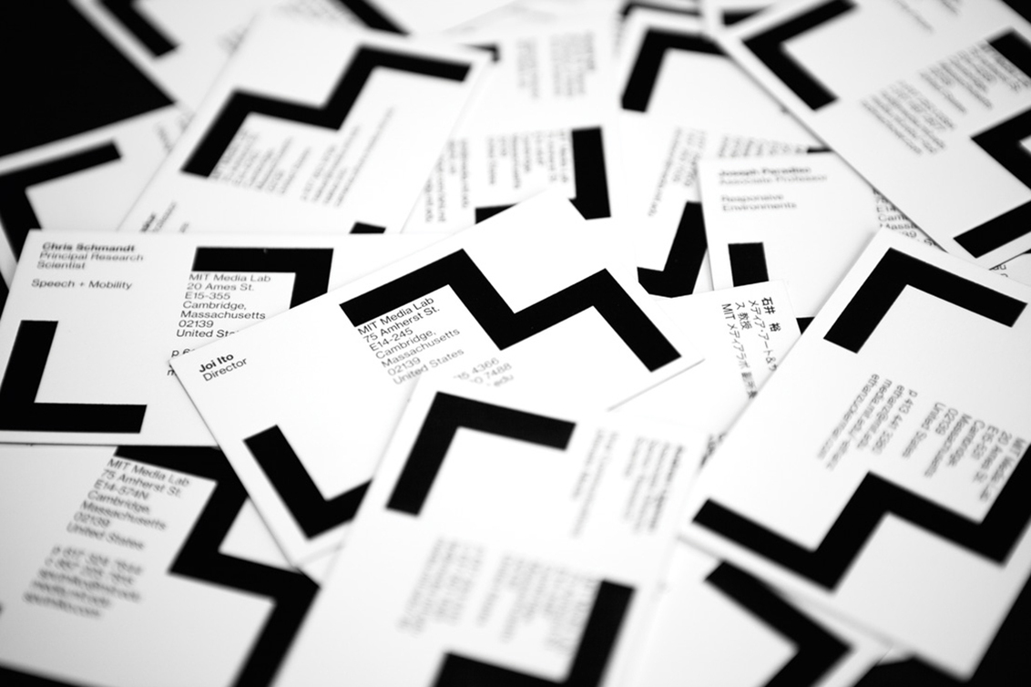 MIT Media Lab business cards   Image Credit:It's Nice That