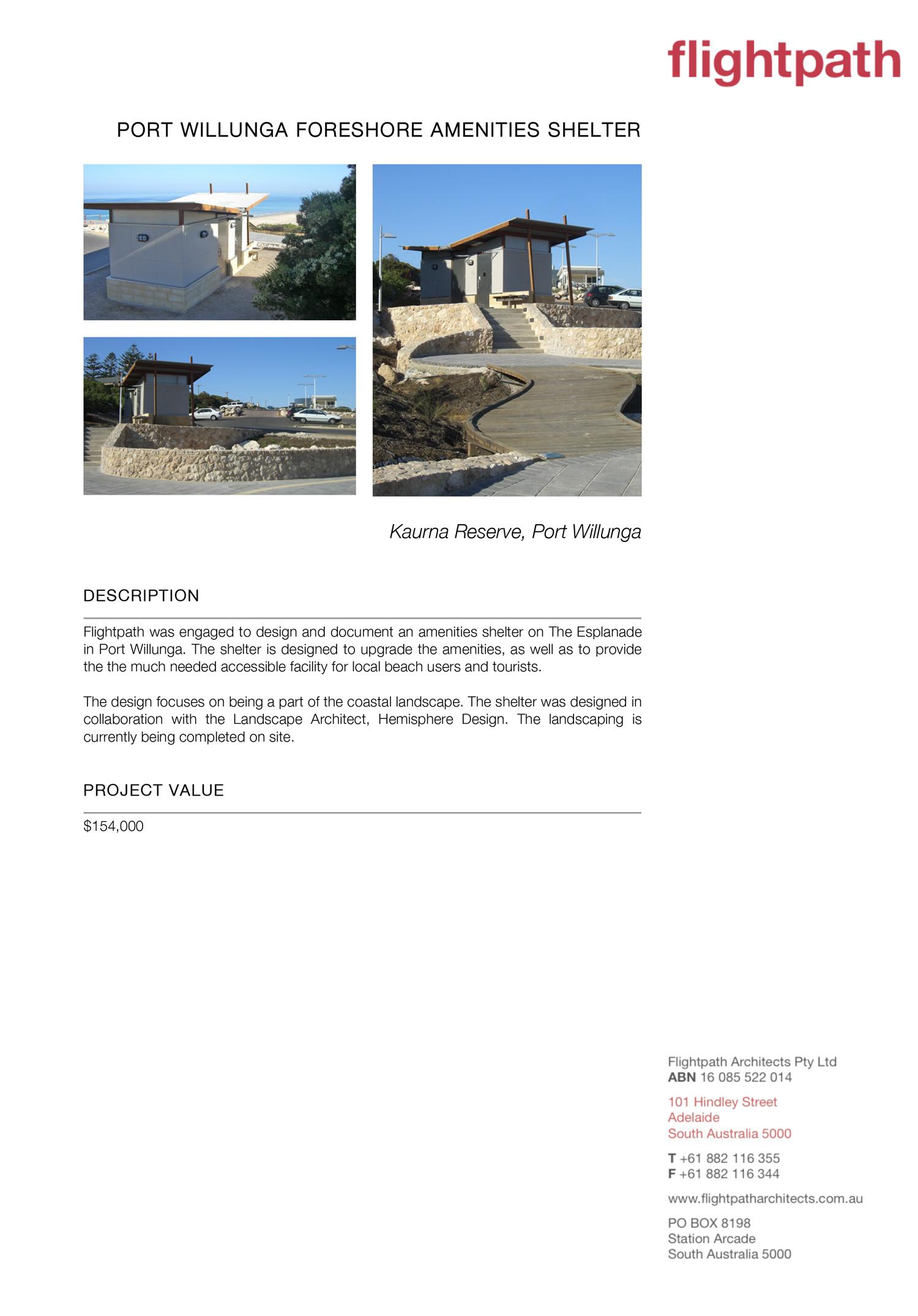 2005 Port Willunga Foreshore Amenities Shelter