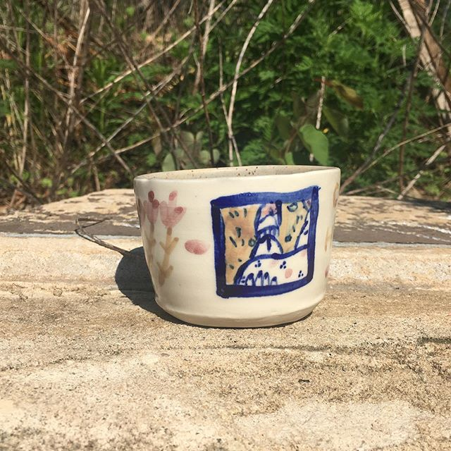 """""""come here""""  personality traits for this porcelain mug: sporty, sentimental, soft, and demanding . . . #atlanta #porcelain  #pottery #cobaltblue #whiteandbluepottery"""