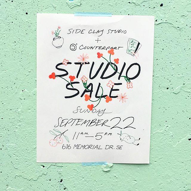 studio sale sunday ~ ceramics and prints ~ come see us