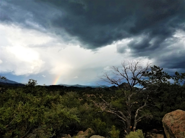 A summer storm rolls across Buena Vista, CO, July 2017.