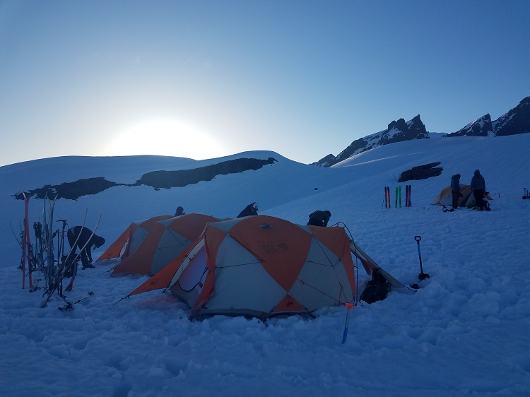 Home, sweet home - base camp near the Easton Glacier on Mt. Baker.