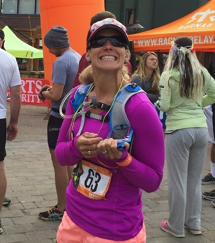 Sancy Shaw, ready to run the first leg of Ragnar Colorado, August 2015. Photo by Chris Berlet.