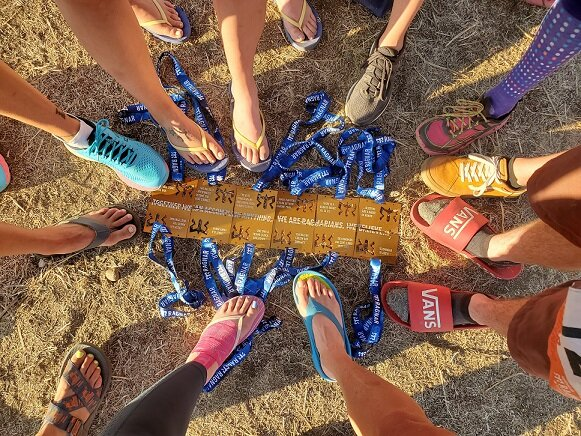 Our finisher's medals together at the end of the race - September 2019.