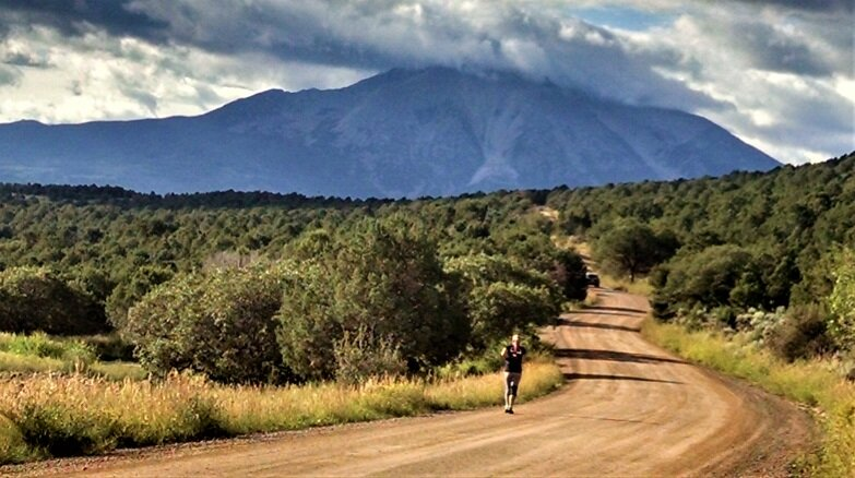 Rag Dolls teammate Toria enjoys the rolling hills of Pitkin County, August 2015.
