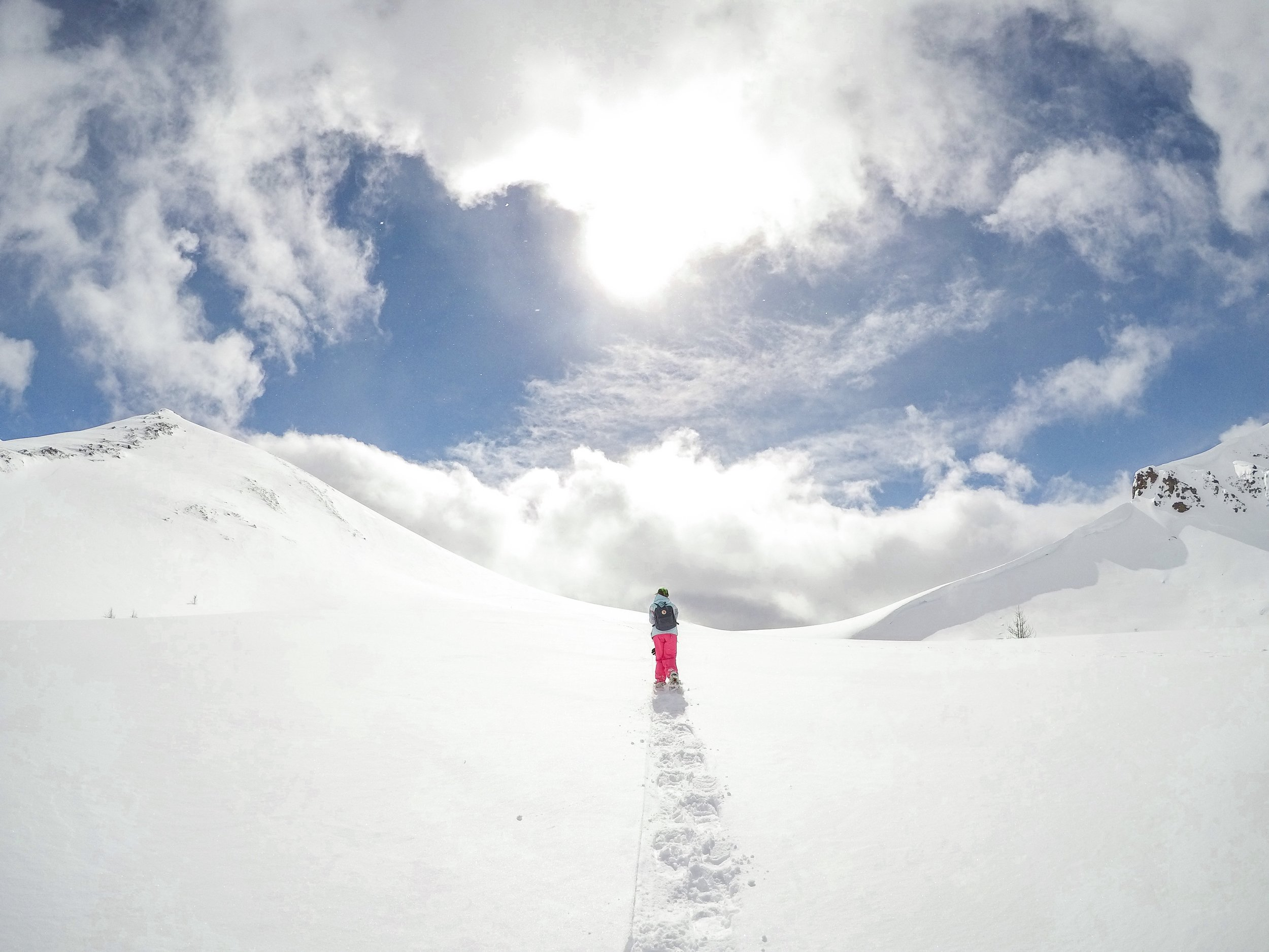 Snowshoeing to the top of Deception Pass