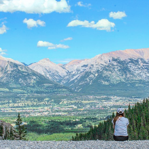 Canmore viewpoint, Grassi Lakes