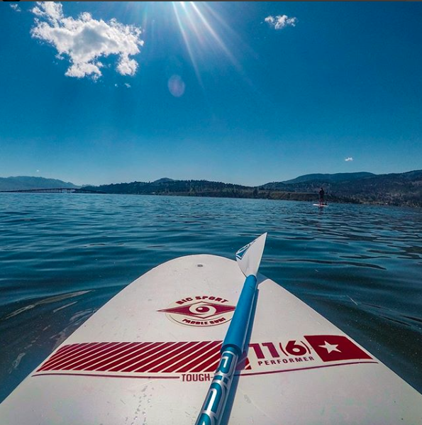 Paddle-boarding on Okanagan Lake