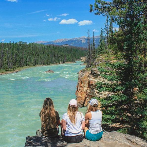 Viewpoint at Athabasca Falls