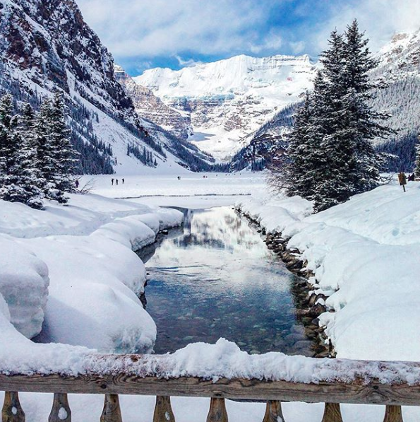 Wintry scences at Lake Louise in May