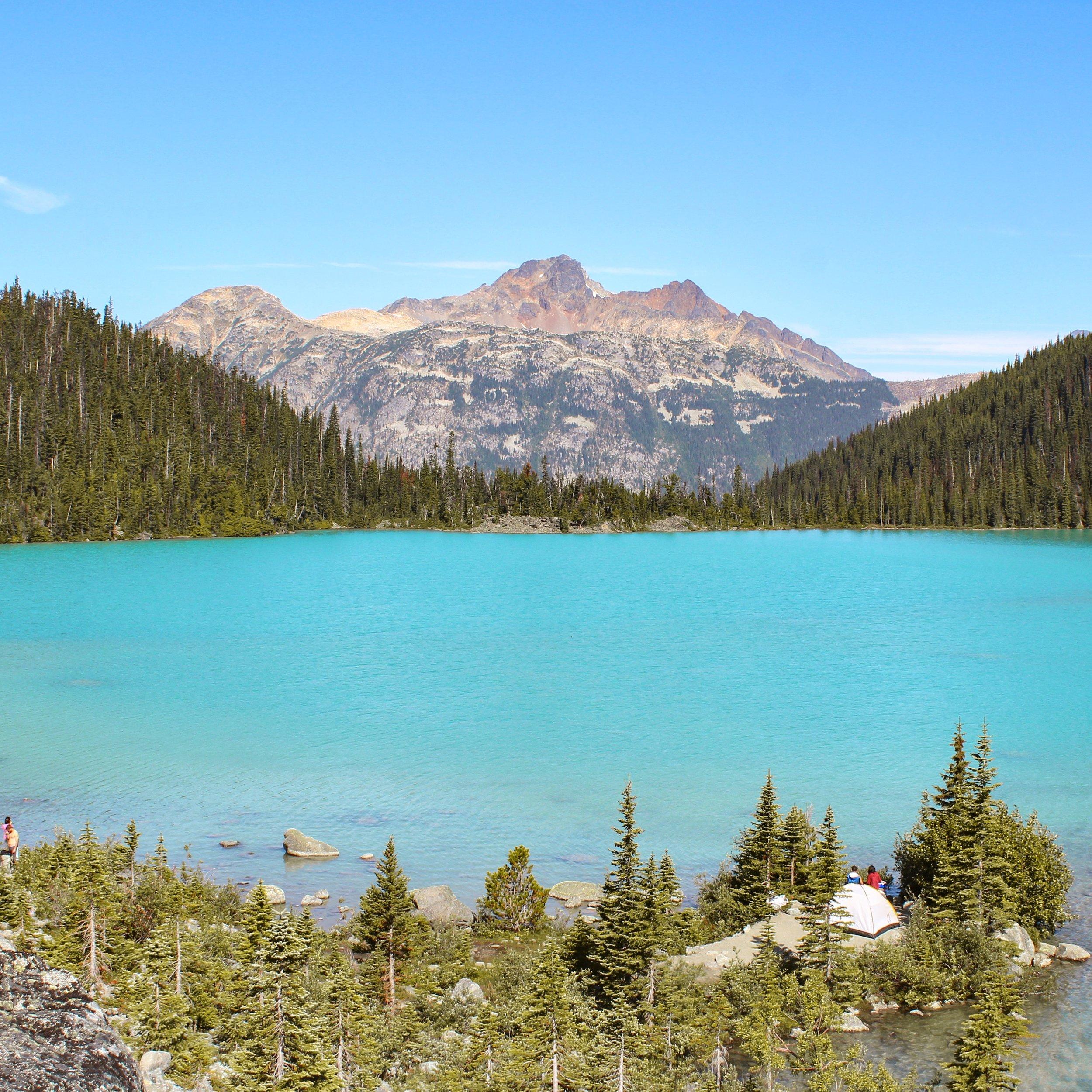 Camping at Upper Joffre Lakes