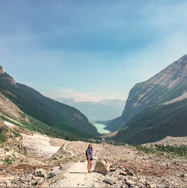 Plain of the Six Glaciers Teahouse hike route.png