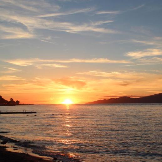 Sunset at Jericho Beach in Kitsilano