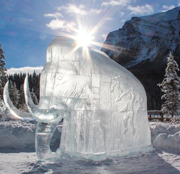 Activities for non-skiers and snowboarders in Banff in winter - Ice Magic Festival Lake Louise Banff National Park