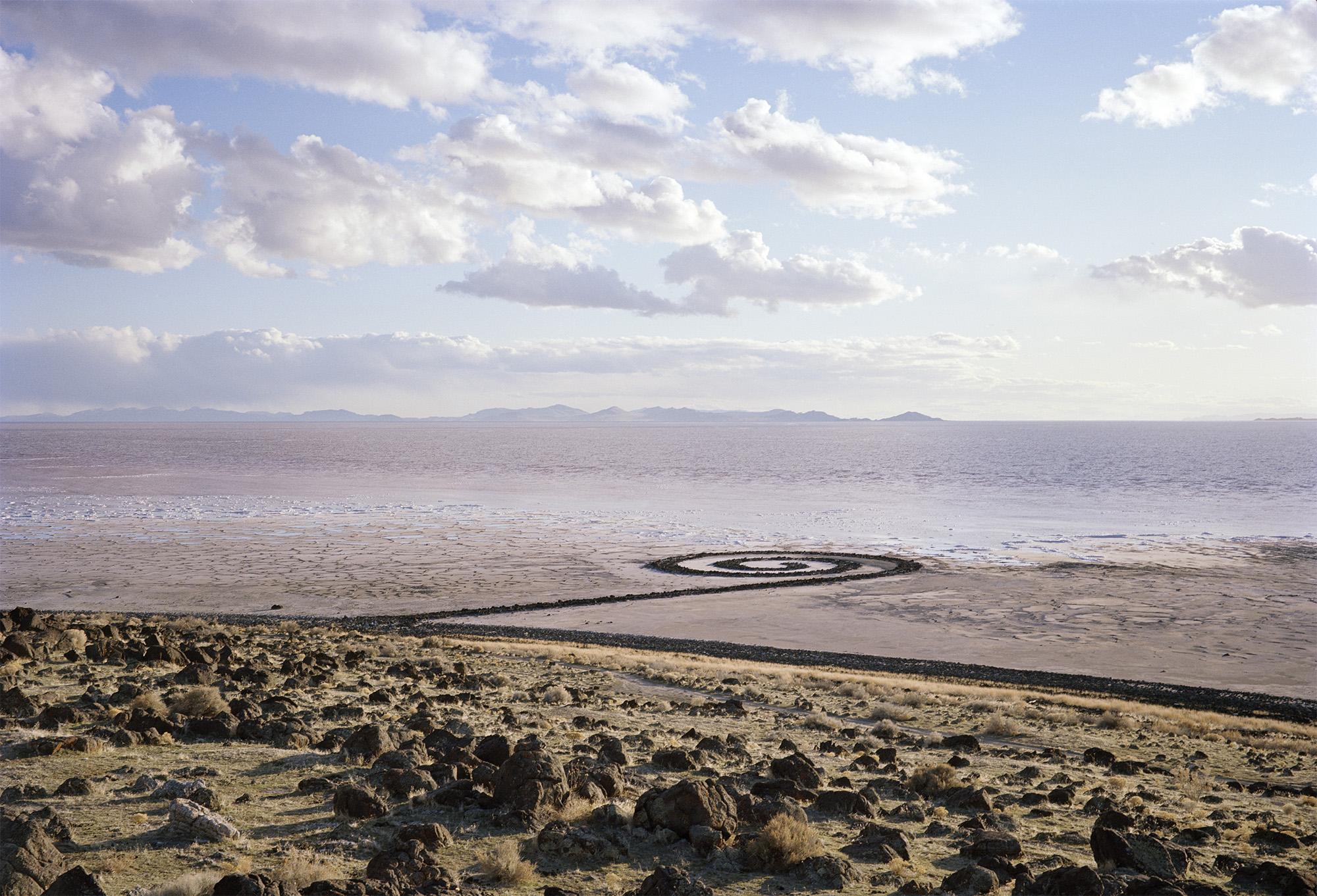 Robert Smithson's Spiral Jetty, Rozel Point, UT.