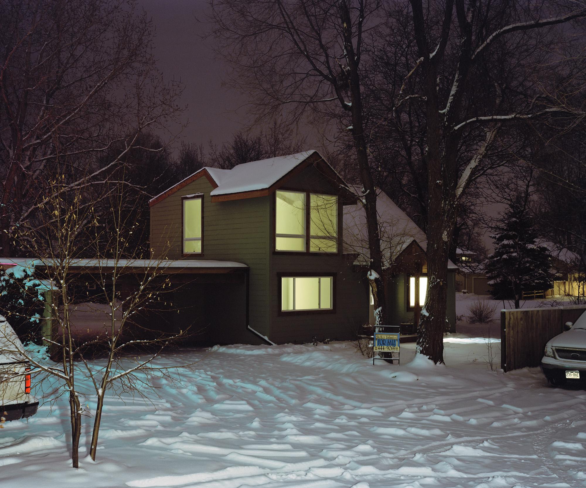 House at Night, Gun Barrel, CO.