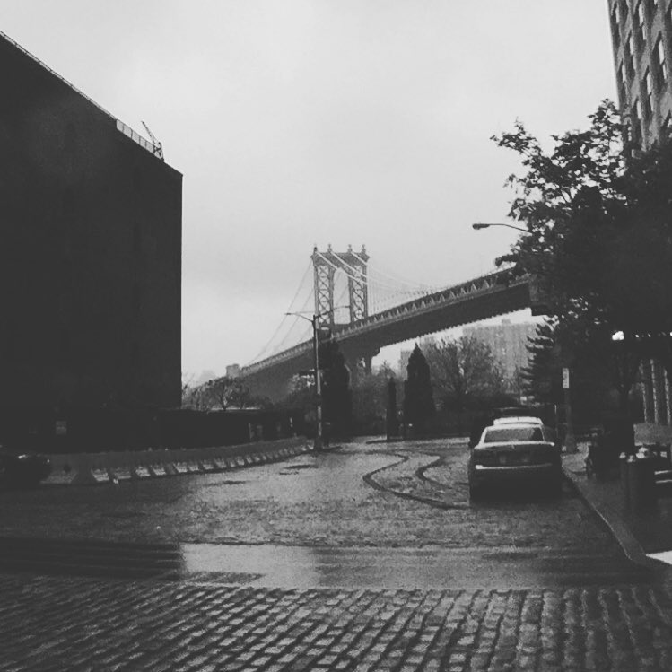- I took this picture on a rainy day while sightseeing in Dumbo, Brooklyn with my niece Demi from California.