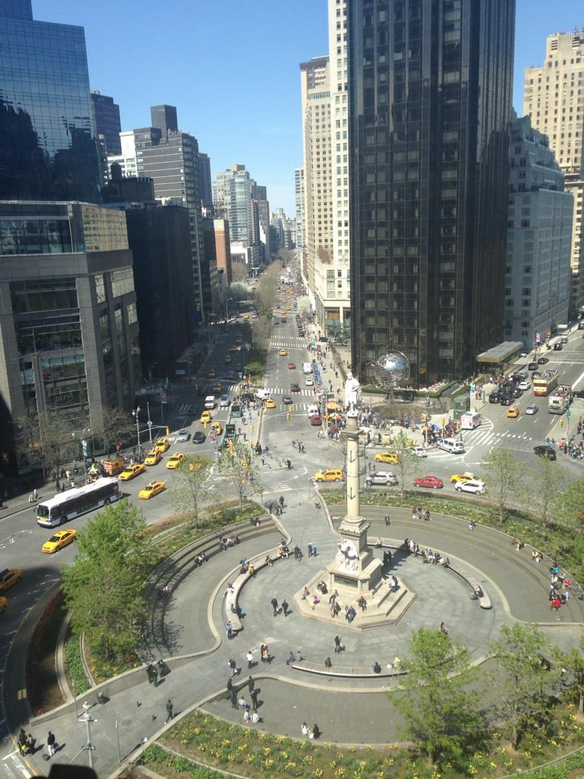 - The spectacular view from Robert's Restaurant at Columbus Circle. I was  having Easter Brunch with my big brother G a few years ago.