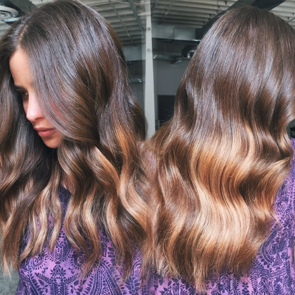 Ombre' Clip In's are a great option for a chemical, and commitment free hair color change.