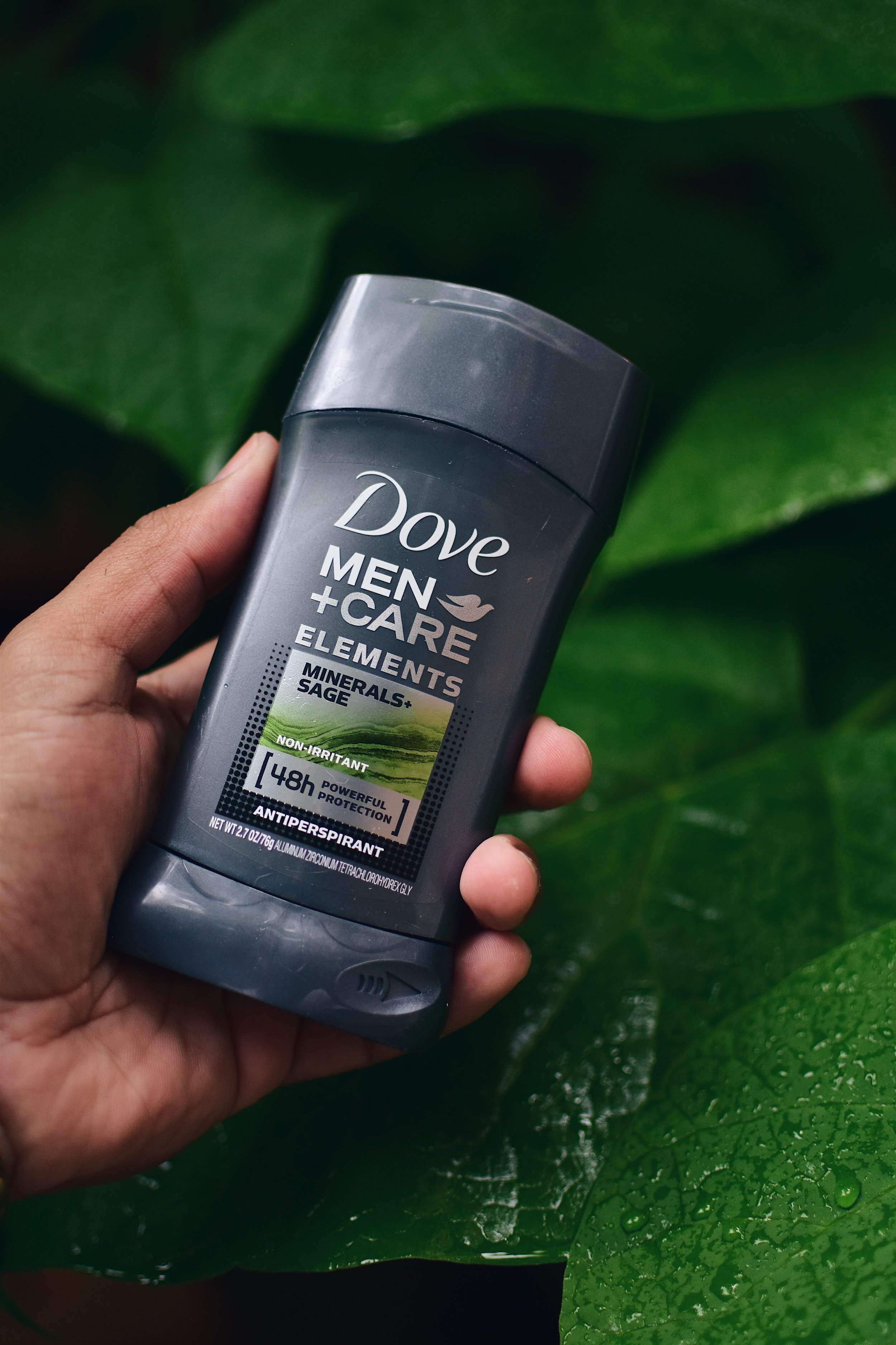 Dove Men+Care Elements Minerals+Sage Deodorant is a favorite of mine. A fresh and clean scent with powerful protection.