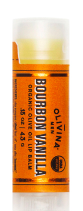 Olivina Bourbon and Vanilla Lip Balm