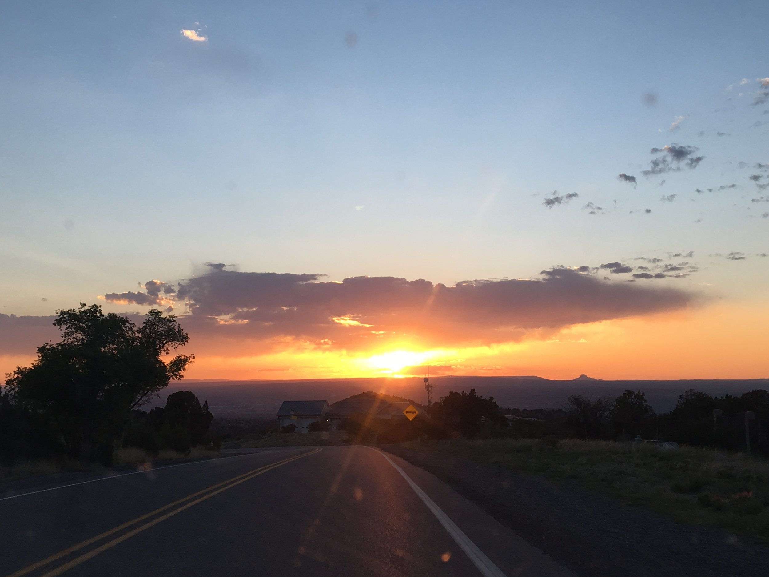 Stunning sunset in Placitas, NM!