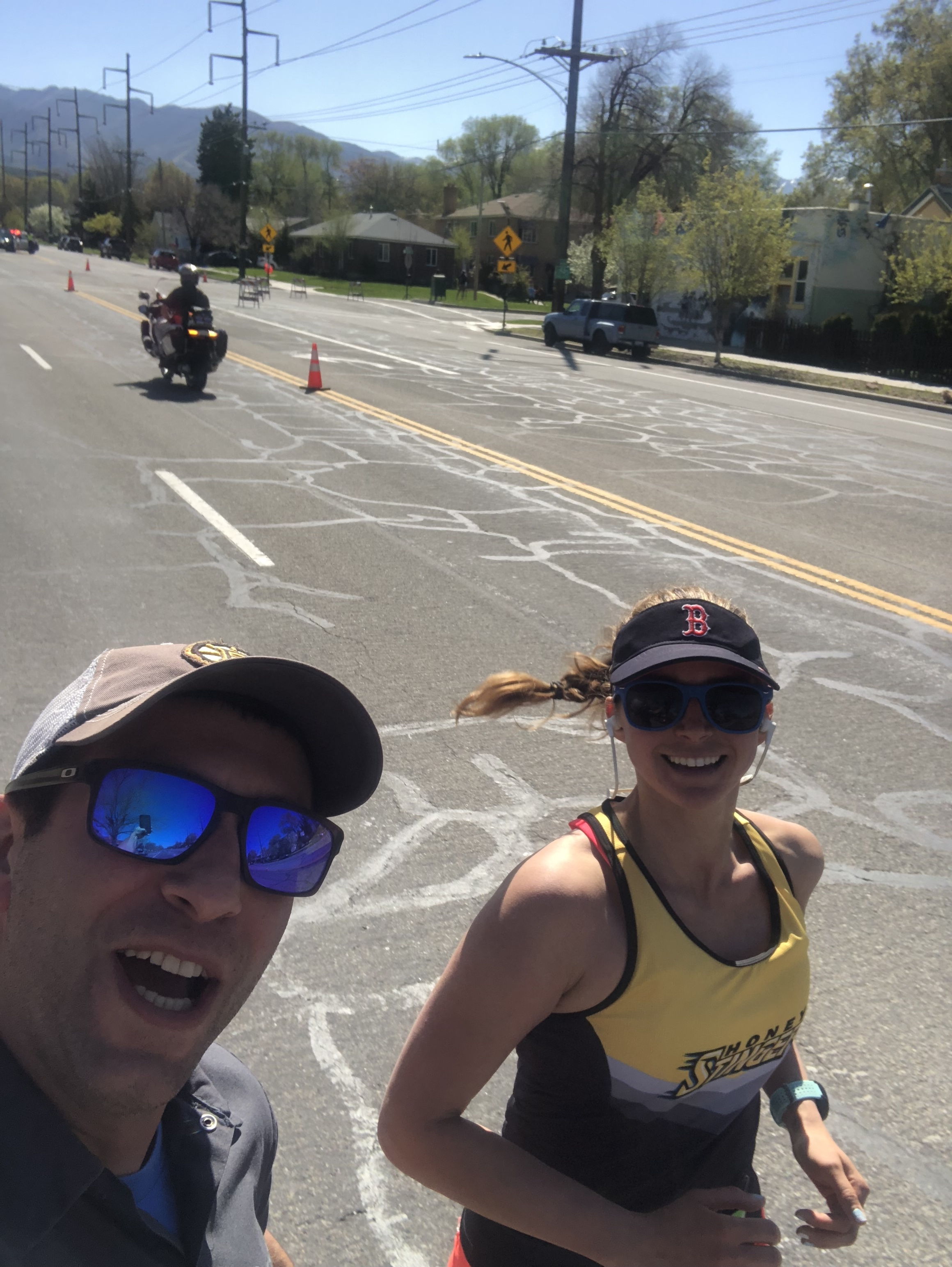 Finishing it out strong at mile 25!