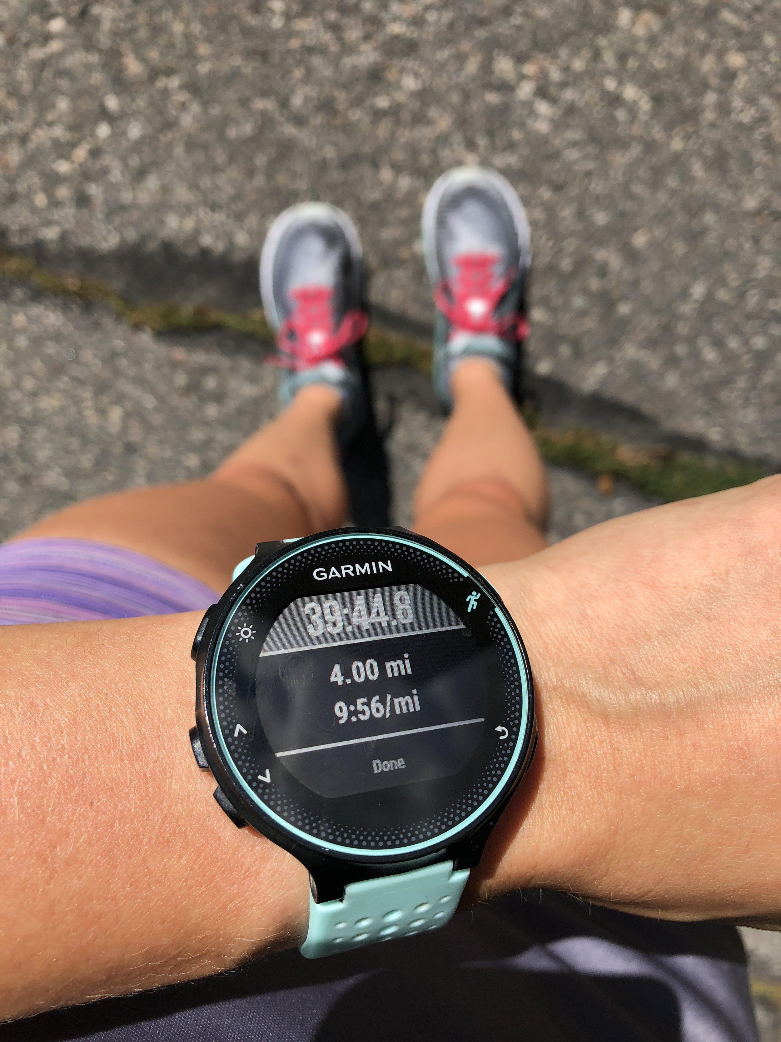 Felt like I was running an 8:00 min/mile. ha.