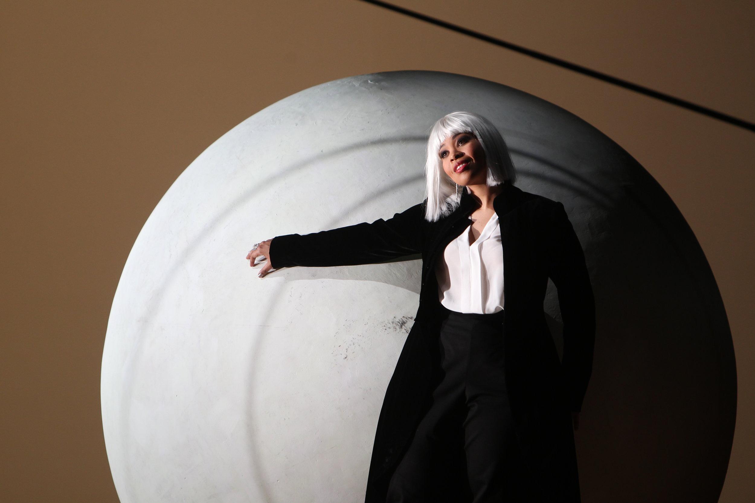 Sibilla in World Premiere of  La bianca notte  at Staatsoper Hamburg. Photo by örg Landsberg